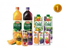 델몬트주스, 22년 연속 '한국산업의 브랜드파워(K-BPI)' 주스부문 1위 선정